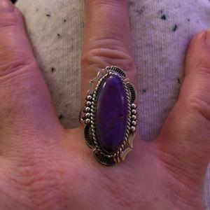 Jewelry - Mojave Purple Turquoise Ring Sz 7 2.70ct